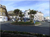 SH7882 : Roundabout on Mostyn Street, Llandudno by Richard Hoare