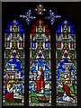 TL5480 : Jonah, Stained glass window, Ely Cathedral by Julian P Guffogg