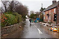 SU6414 : Flooding in West Street, Hambledon by Peter Facey