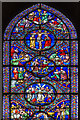 TL5480 : Detail, East Window, Ely Cathedral by Julian P Guffogg