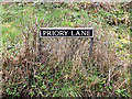 TM2499 : Priory Lane sign by Adrian Cable