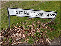 TM1543 : Stone Lodge Lane sign by Hamish Griffin