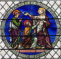 TG2308 : Doubting Thomas stained glass, Norwich Cathedral by J.Hannan-Briggs