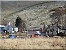 NT4054 : Former level crossing, Heriot by Richard Webb