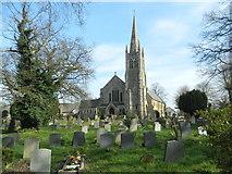 TQ4094 : St John's Church & churchyard, Buckhurst Hill by John Lord