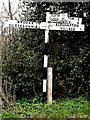 TM3099 : Roadsign on Wellbeck Road by Adrian Cable