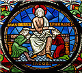 SK9771 : Detail, Stained glass window (s.XXXVII), Lincoln Cathedral by J.Hannan-Briggs
