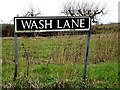 TM2596 : Wash Lane sign by Adrian Cable