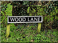 TM2398 : Wood Lane sign by Adrian Cable