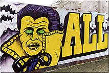 NZ2564 : Graffiti wall by William Starkey