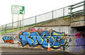 J3876 : Graffiti, Tillysburn, Belfast - March 2014(1) by Albert Bridge