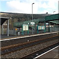 ST0499 : Information boards at Mountain Ash railway station by Jaggery