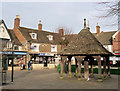 SK8608 : Oakham Market Place and town pump by Alan Murray-Rust