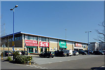 SO9198 : Stores in St John's Retail Park, Wolverhampton by Roger  Kidd