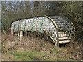 NT3773 : Old railway footbridge by M J Richardson