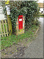 TM2396 : Manor Farm Victorian Postbox by Adrian Cable