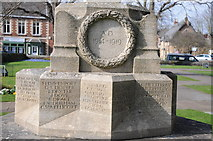 SK8608 : Detail of Oakham War Memorial by Philip Halling