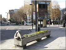 TQ3282 : Drinking fountain and cattle trough, City Road / Central Street, EC1 by Mike Quinn