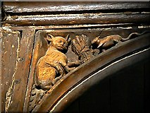 SP0202 : Tom and Jerry, St John the Baptist Church, Cirencester by Brian Robert Marshall