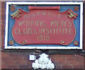 NZ7019 : Sign for Carlin How & District Working Mens Club & Institute by JThomas