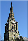 SO9098 : The spire of St Mark's Church, Wolverhampton by Roger  Kidd