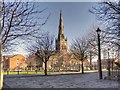 SJ8298 : View of Salford Cathedral from Bank Place by David Dixon