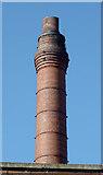 SO9098 : Brewery chimney in Wolverhampton by Roger  Kidd