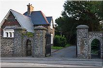 SN5981 : Gateway to Aberystwyth Cemetery by Ian Capper
