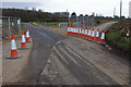 SD4663 : Temporary diversion, Folly Lane by Ian Taylor