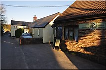 SS9531 : Brompton Regis : Village Shop by Lewis Clarke