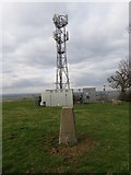 SK8939 : Radio Mast at Belton Gorse with Triangulation Pillar in the foreground by Peter Wood