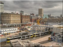 SJ8499 : Manchester Victoria Station, Redevelopment Work (March 2014) by David Dixon