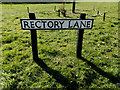 TM3689 : Rectory Lane sign by Geographer