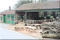 ST5071 : The bodger's workshop at Tyntesfield by Rod Allday