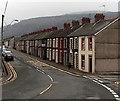ST0697 : Long row of houses, Rheola Street, Penrhiwceiber by Jaggery