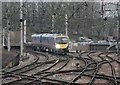 NY4055 : Class 185 Approaching Carlisle Station by Rob Newman