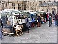 NZ2742 : Durham Market Stalls by Gordon Griffiths