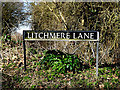TM3693 : Litchmere Lane sign by Adrian Cable