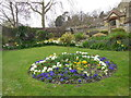 TQ4109 : Flowerbed at Southover Grange by Paul Gillett