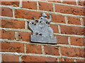 TQ1565 : Fire insurance mark on the wall of Admiral Manor by Marathon