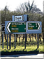 TM3793 : Roadsigns on the A143 Yarmouth Road by Adrian Cable