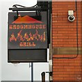 SJ9295 : Sign of the Broomhouse Grill by Gerald England