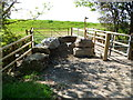ST4686 : Wales Coast Path reaches the coast at the edge of Caldicot Moor by Jaggery