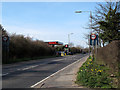 TL4605 : Speed limit signs and filling station, Thornwood Common by Stephen Craven