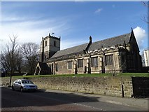 SK4374 : St John the Baptist, Staveley by Neil Theasby