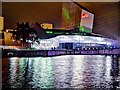 SJ8097 : Imperial War Museum North Laser Show by David Dixon
