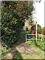 TM4461 : Footpath to the B1069 Haylings Road by Adrian Cable