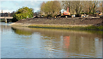 J3371 : Revetment works, River Lagan, Belfast - March 2014(4) by Albert Bridge