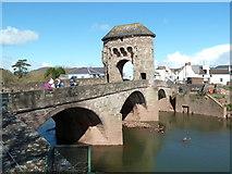 SO5012 : Monnow bridge - Monmouth by Chris Allen