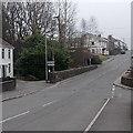 SS7499 : Main Road bridge over a stream in Bryncoch by Jaggery